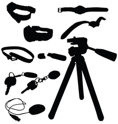 Watch and miscellaneous items vector