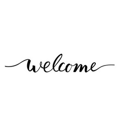 welcome lettering text vector image