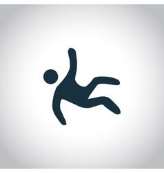 Wet Floor black icon vector image