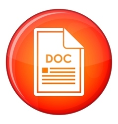 File doc icon flat style vector