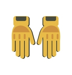 Yellow gloves protection fireman elements vector