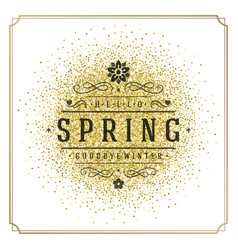Spring typographic poster or greeting card vector