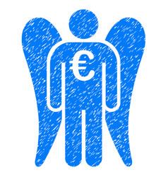 euro angel investor icon grunge watermark vector image