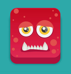 Cartoon monster in flat style vector