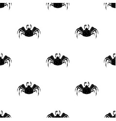 king crab icon in black style isolated on white vector image