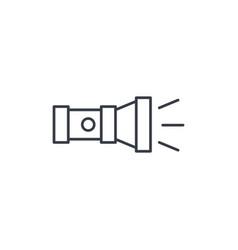 Flashlight thin line icon linear symbol vector