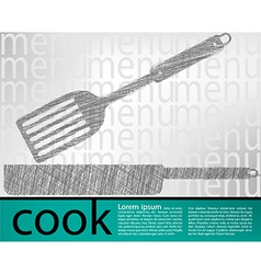 Frying pan kitchen utensils vector