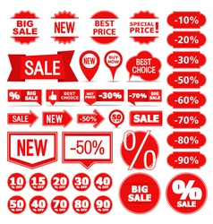 Sale banners labels and stickers vector