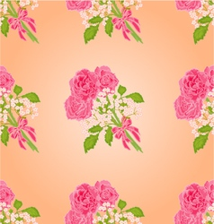 Seamless texture bouquet of three roses vector