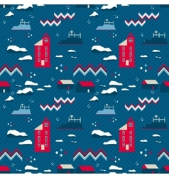 Seamless patternred lighthouse vector
