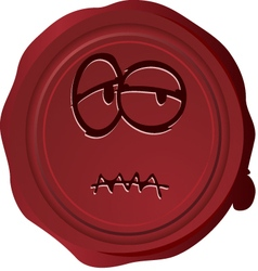 Wax seal smiley 26 vector