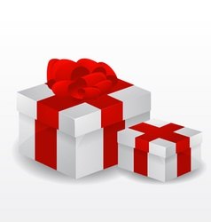 red vector gift box vector image