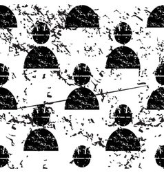 Builder pattern grunge monochrome vector