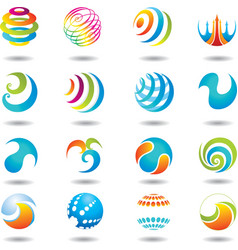 Set of design elements and buttons vector