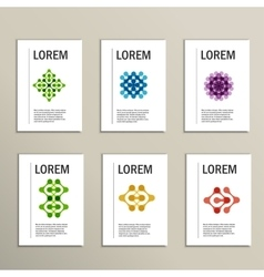 brochures with abstract figures Design vector image