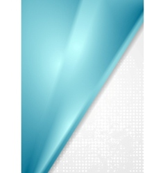 Bright blue grey abstract background vector