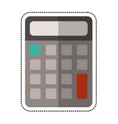 cartoon calculator math school vector image
