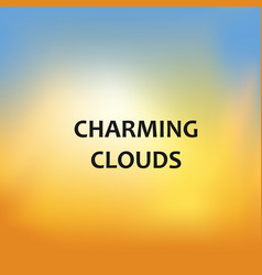 Charming clouds blurred background vector