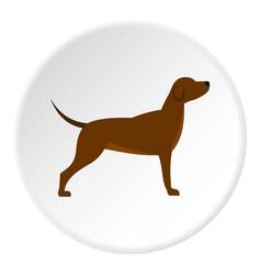 Dog icon circle vector