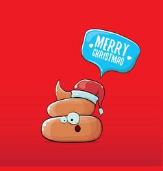 Funny cartoon cool cute brown smiling poo vector