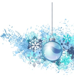 hanging christmas ball vector image vector image