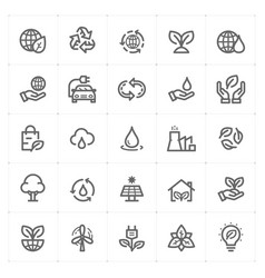 Icon set - environment vector
