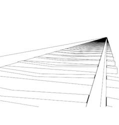 image RAILWAY TRACK vector image vector image