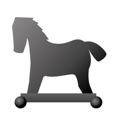 isolated hacker horse virus vector image