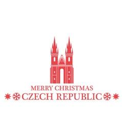 Merry Christmas Czech Republic vector image
