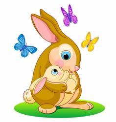 rabbit hood vector image vector image
