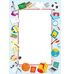 school border vector image