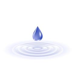 water drop falling vector image vector image