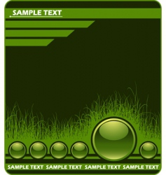 web background with grass vector image vector image