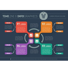 Web Template for circle diagram or presentation on vector image