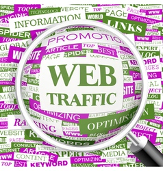 WEB TRAFFIC vector image