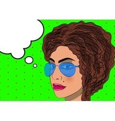 Upset thoughtful woman vector image