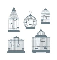 Birdcages Set vector image