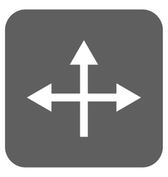Intersection directions flat squared icon vector