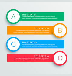 Infographics steps banners template vector