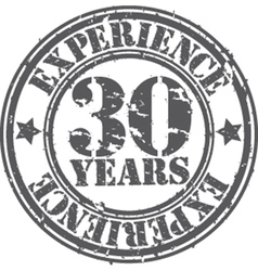 Grunge 30 years of experience rubber stamp vector image