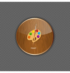 Paint wood application icons vector image