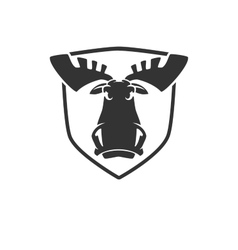 The evil moose head logo emblem vector