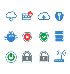 Simplus series icon set network connections and vector