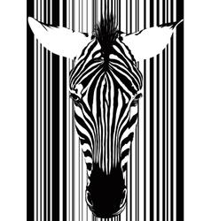 Zebra Barcode Face vector image