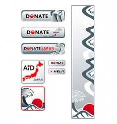 Japan donation banners vector