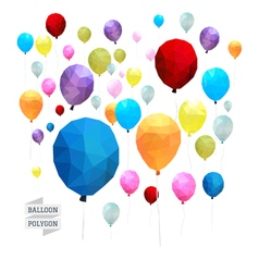 Balloon polygon vector