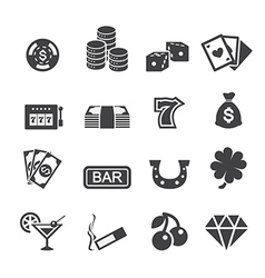 Casino icon vector