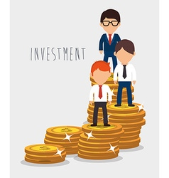 Money saving and investment vector