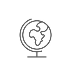 World globe on stand line icon vector