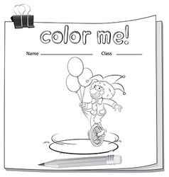 A workbook with a clown vector